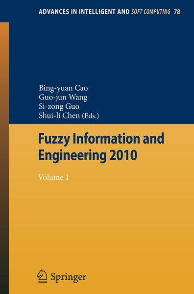 Fuzzy Information and Engineering 2010 | Dodax.ch