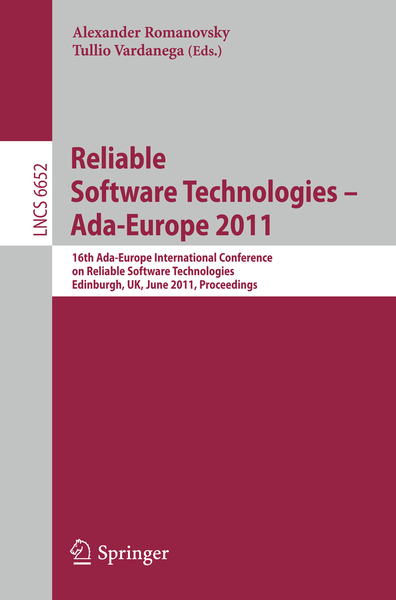 Reliable Software Technologies – Ada-Europe 2011 | Dodax.nl