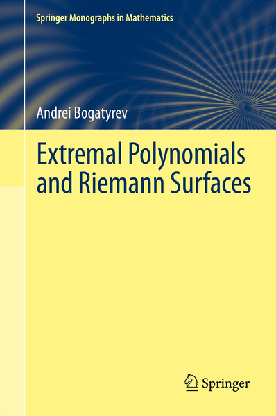 Extremal Polynomials and Riemann Surfaces | Dodax.ch