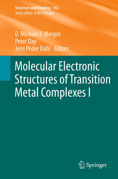 Molecular Electronic Structures of Transition Metal Complexes I | Dodax.ch