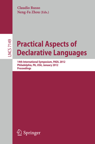 Practical Aspects of Declarative Languages | Dodax.nl