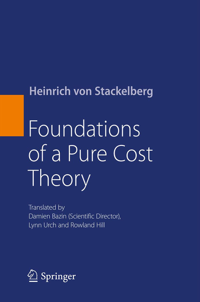 Foundations of a Pure Cost Theory | Dodax.ch