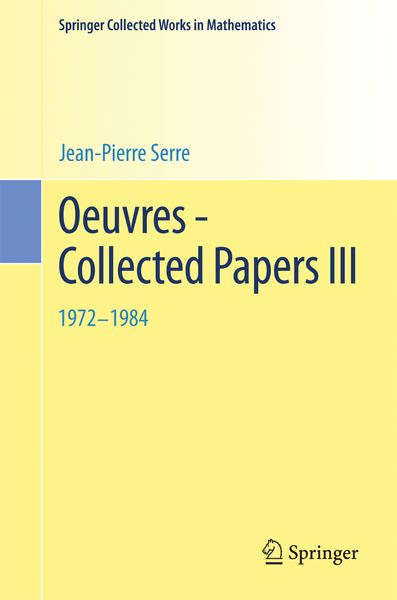 Oeuvres - Collected Papers III | Dodax.ch