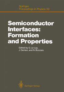 Semiconductor Interfaces: Formation and Properties | Dodax.at