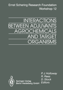 Interactions Between Adjuvants, Agrochemicals and Target Organisms   Dodax.fr