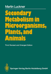 Secondary Metabolism in Microorganisms, Plants, and Animals | Dodax.ch
