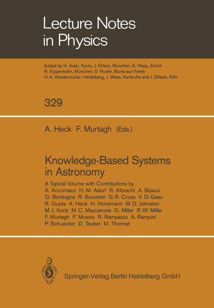 Knowledge-Based Systems in Astronomy | Dodax.ch