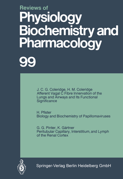 Reviews of Physiology, Biochemistry and Pharmacology | Dodax.ch