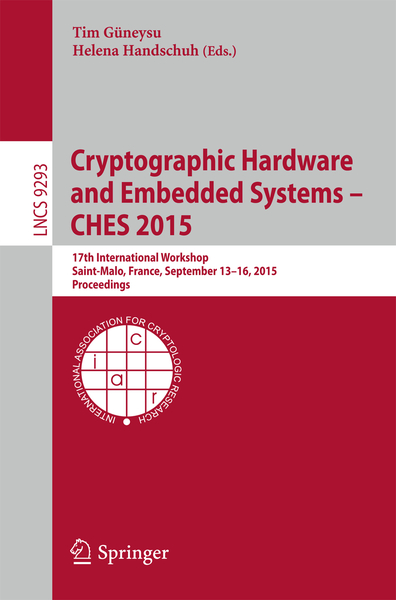 Cryptographic Hardware and Embedded Systems -- CHES 2015 | Dodax.ch