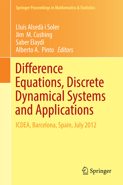 Difference Equations, Discrete Dynamical Systems and Applications | Dodax.ch