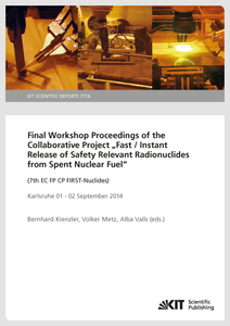 """Final Workshop Proceedings of the Collaborative Project """"Fast / Instant Release of Safety Relevant Radionuclides from Spent Nuclear Fuel"""" (7th EC FP CP FIRST-Nuclides), Karlsruhe 01 - 02 September 2014 