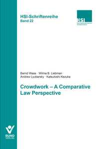 Crowdwork – A Comparative Law Perspective | Dodax.pl