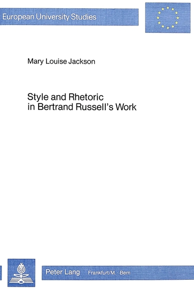 Style and Rhetoric in Bertrand Russels's Work | Dodax.de