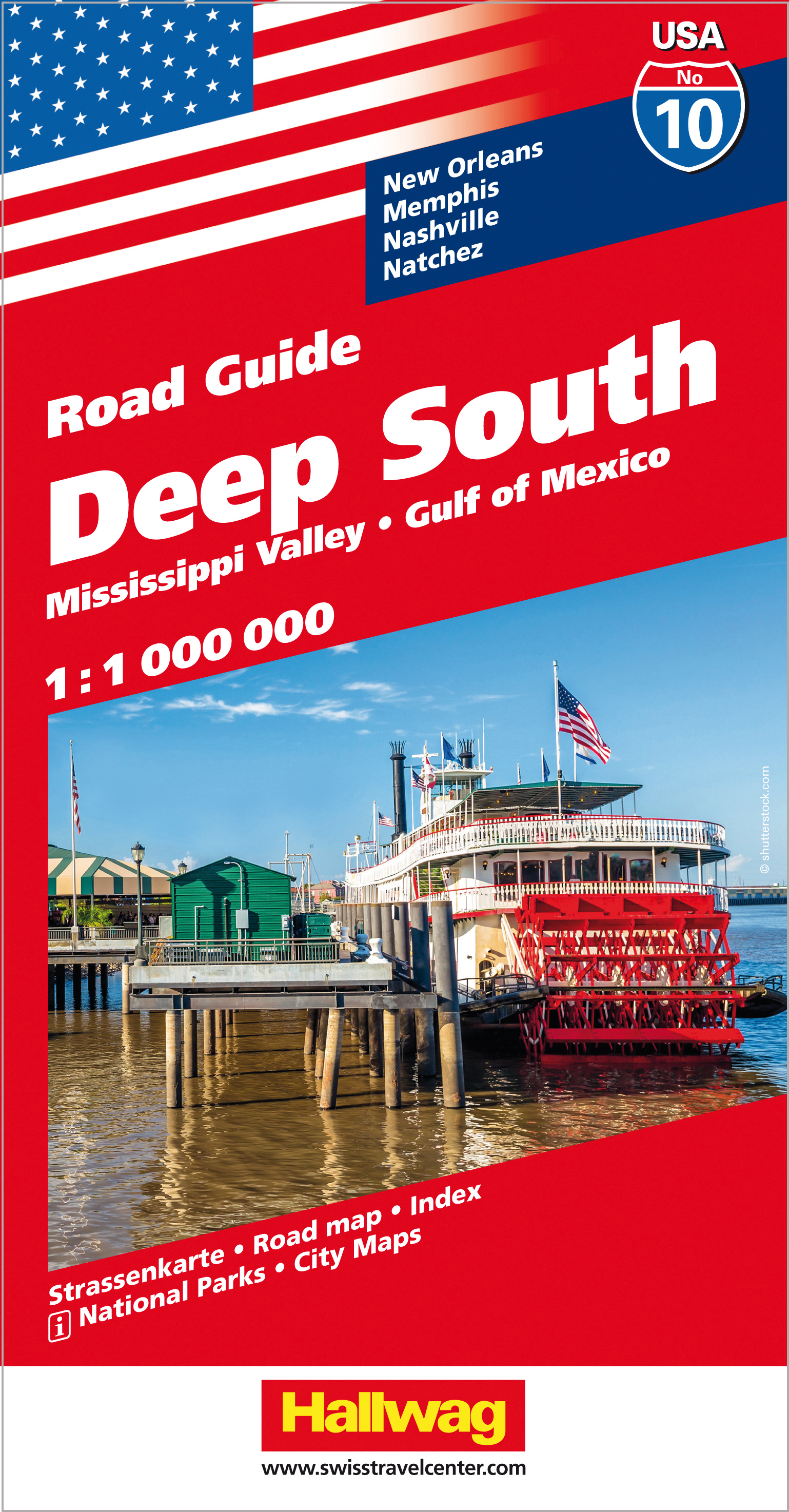 Hallwag USA Road Guide Deep South | Dodax.at