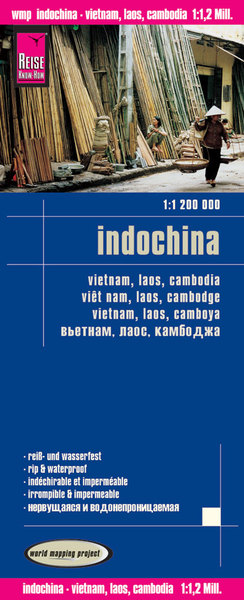 World Mapping Project Reise Know-How Landkarte Indochina (1:1.200.000) Vietnam, Laos, Kambodscha | Dodax.at