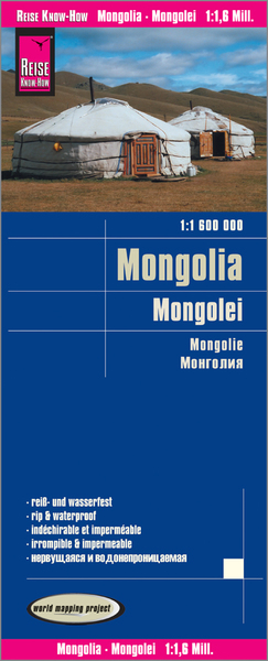 World Mapping Project Reise Know-How Landkarte Mongolei (1:1.600.000). Mongolia / Mongolie | Dodax.ch