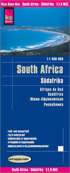 World Mapping Project Reise Know-How Landkarte Südafrika (1:1.400.000). South Africa / Afrique du sud / Sudáfrica | Dodax.at