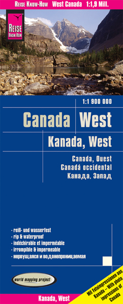World Mapping Project Reise Know-How Landkarte Kanada West (1:1.900.000). West Canada. Canada ouest. Canadá occidental | Dodax.ch