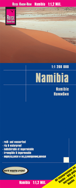 World Mapping Project Reise Know-How Landkarte Namibia. Namibie | Dodax.at