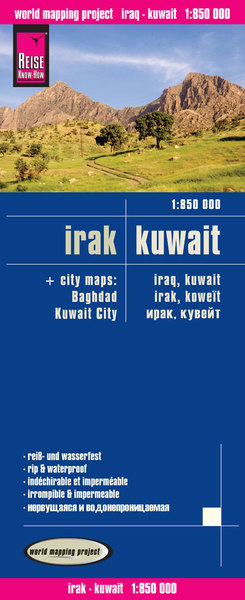 World Mapping Project Reise Know-How Landkarte Irak, Kuwait (1:850.000). Iraq, Kuwait / Irak, Koweit | Dodax.at