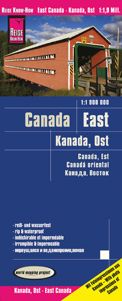 World Mapping Project Reise Know-How Landkarte Kanada Ost (1:1.900.000). East Canada / Canada, est / Canadá oriental | Dodax.at
