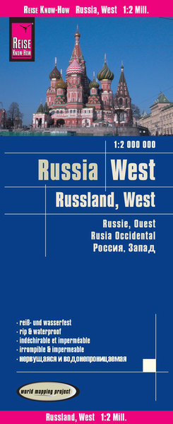 World Mapping Project Reise Know-How Landkarte Russland West (1:2.000.000). West Russia / Russie, ouest / Rusia occidental | Dodax.at