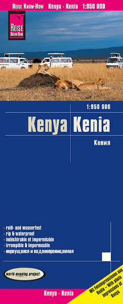 World Mapping Project Reise Know-How Landkarte Kenia (1:950.000). Kenya | Dodax.at