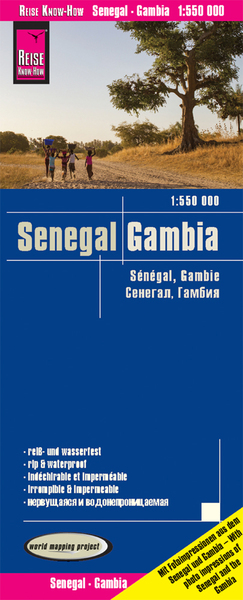 World Mapping Project Reise Know-How Landkarte Senegal, Gambia (1:550.000). Senegal, The Gambia / Sénégal, Gambie | Dodax.at