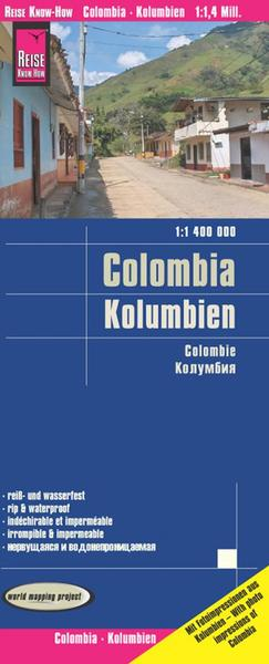 World Mapping Project Reise Know-How Landkarte Kolumbien (1:1.400.000). Colombia / Colombie | Dodax.ch