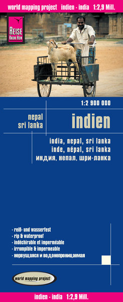 World Mapping Project Reise Know-How Landkarte Indien (1:2.900.000) mit Nepal und Sri Lanka. India, Nepal, Sri Lanka / Inde, Népal, Sri Lanka | Dodax.ch