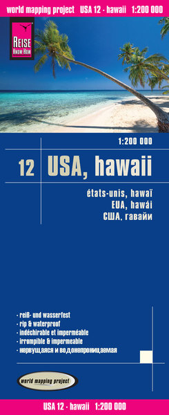 World Mapping Project Reise Know-How Landkarte USA 12, Hawaii (1:200.000) | Dodax.at