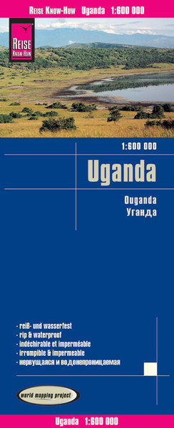 Reise Know-How Landkarte World Mapping Project Uganda (1:600.000) | Dodax.ch