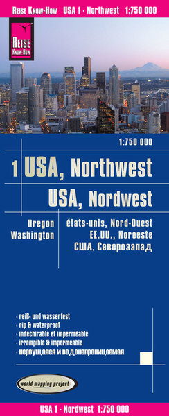 Reise Know-How Landkarte USA 01, Nordwest (1:750.000) : Washington und Oregon | Dodax.co.uk
