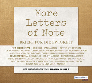 More Letters of Note, 3 Audio-CDs | Dodax.at