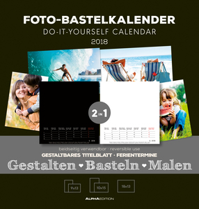 Foto-Bastelkalender FAMILY 2018 - 2 in 1: Bastelkalender: Do it yourself calendar (21 x 22) - datiert | Dodax.at