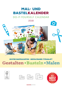 Mal- und Bastelkalender 2018 mit Platz für Notizen / Do it yourself calendar A4 - datiert | Dodax.com