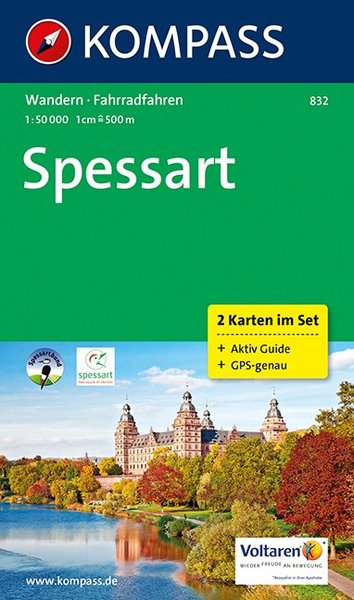 Kompass Karte Spessart, 2 Bl. | Dodax.at