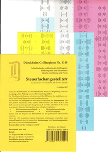 SteuerFachangestellte, Griffregister | Dodax.at