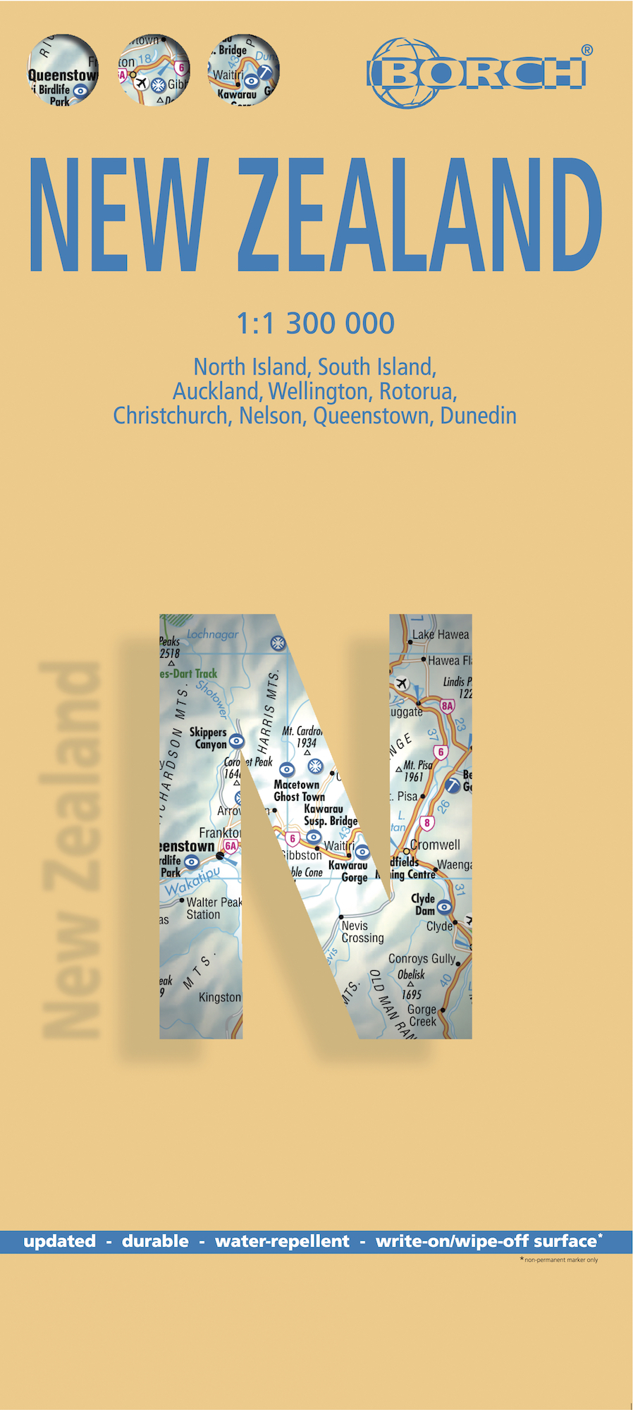 Borch Map Neuseeland. New Zealand | Dodax.ch