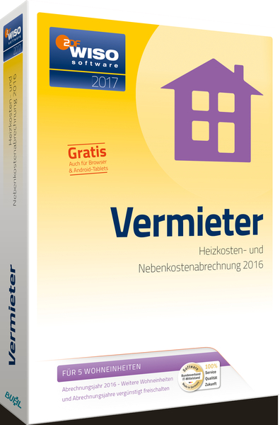 WISO Vermieter 2017, CD-ROM | Dodax.at