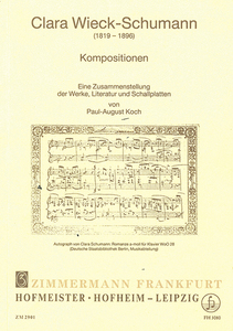 Clara Wieck-Schumann, Kompositionen | Dodax.at