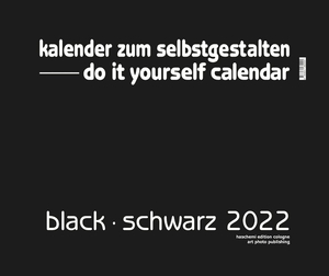 Black - Schwarz 2018 - XXL Format - Do it yourself Calendar | Dodax.com