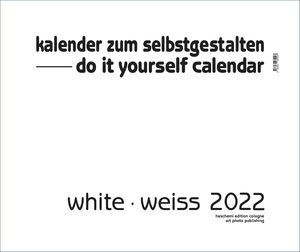 White - Weiss 2018 - XXL Format - Do it yourself Calendar | Dodax.com
