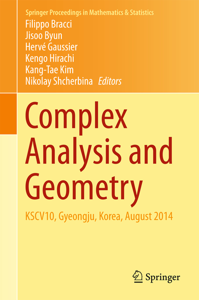 Complex Analysis and Geometry   Dodax.ch