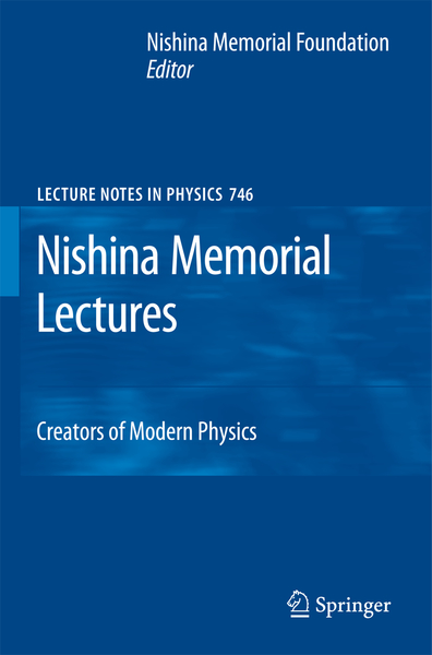 Nishina Memorial Lectures | Dodax.ch
