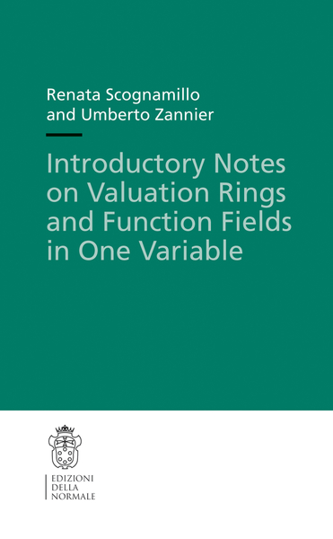 Introductory Notes on Valuation Rings and Function Fields in One Variable | Dodax.ch