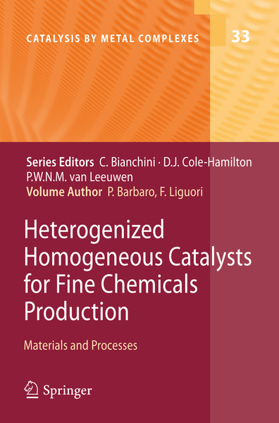 Heterogenized Homogeneous Catalysts for Fine Chemicals Production   Dodax.ch