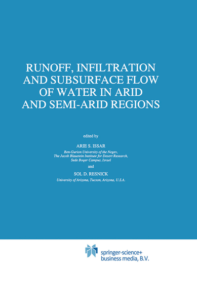 Runoff, Infiltration and Subsurface Flow of Water in Arid and Semi-Arid Regions | Dodax.pl