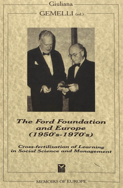 The Ford Foundation and Europe (1950's-1970's) | Dodax.ch