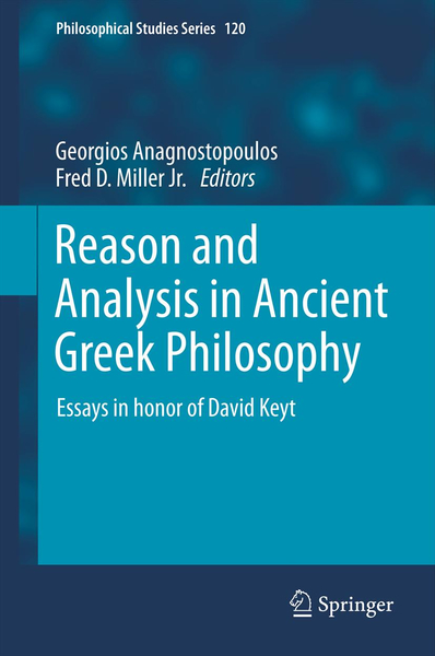Reason and Analysis in Ancient Greek Philosophy   Dodax.ch